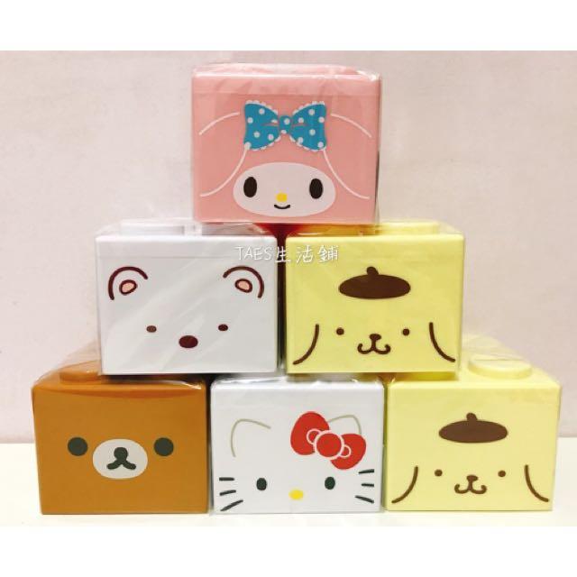 三麗鷗可愛造型可疊積木造型存錢筒 收納筒 置物筒 撲滿