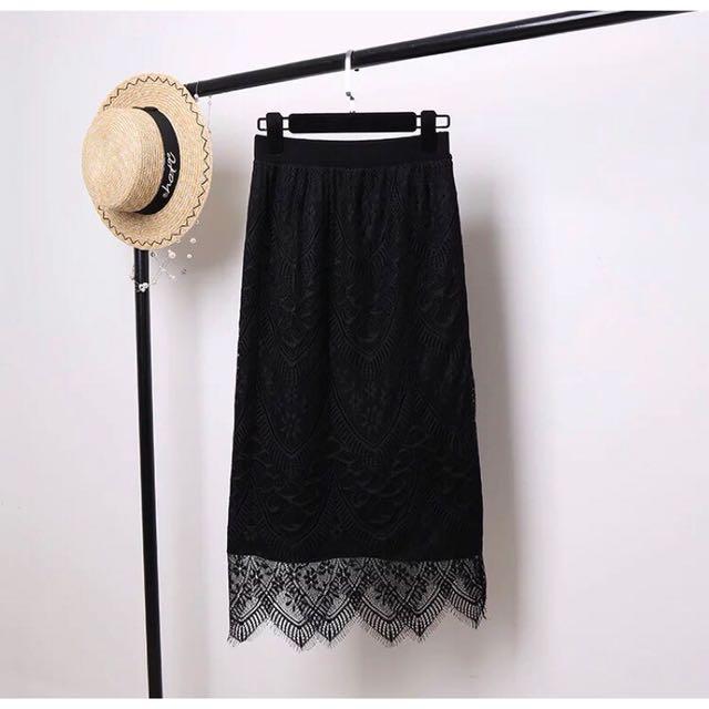 韓版 兩面穿氣質蕾絲針織裙 好搭配款 秋冬必備款