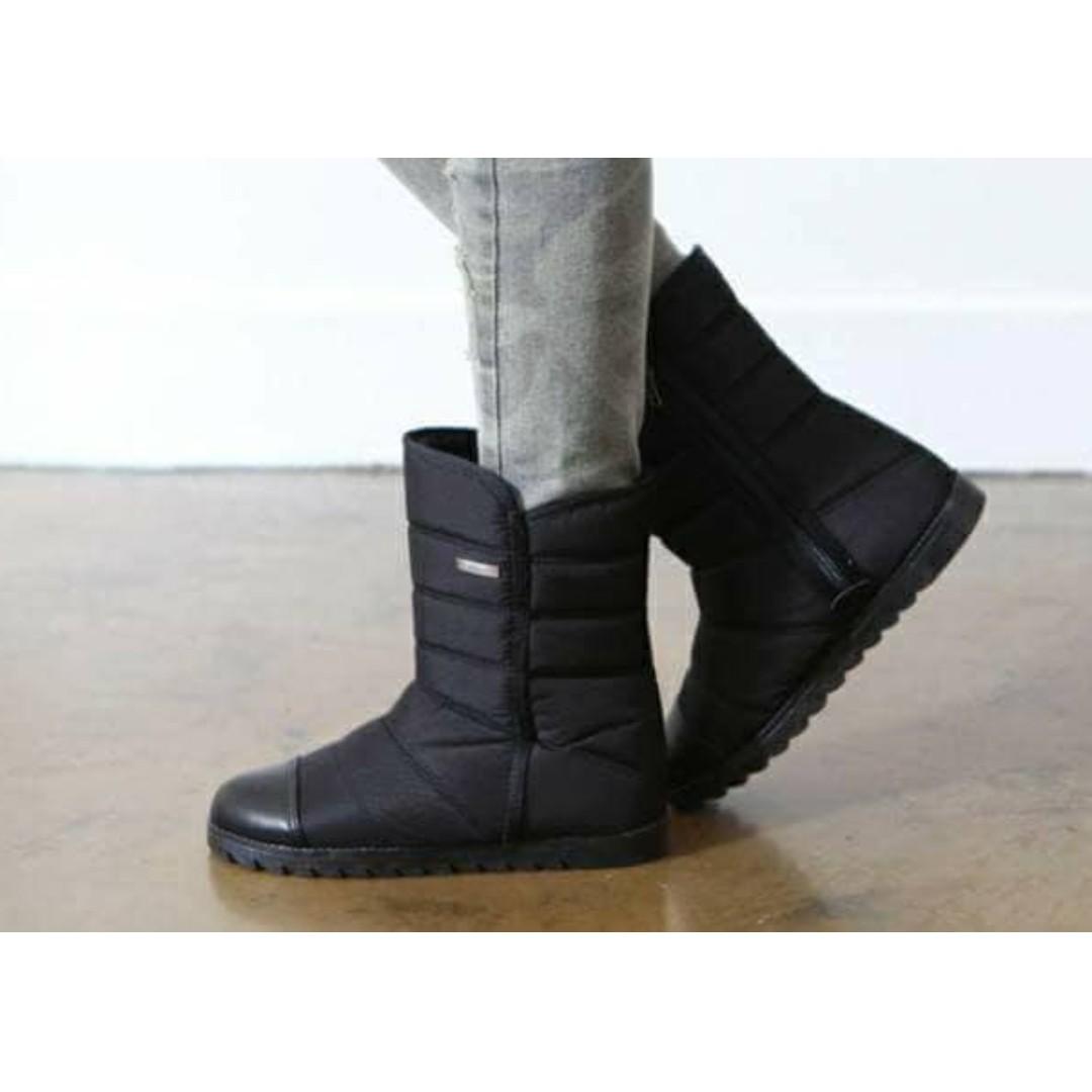 正韓 防水保暖羽絨內增高雪靴 Korean waterproof warm down feather inside increased snow boots