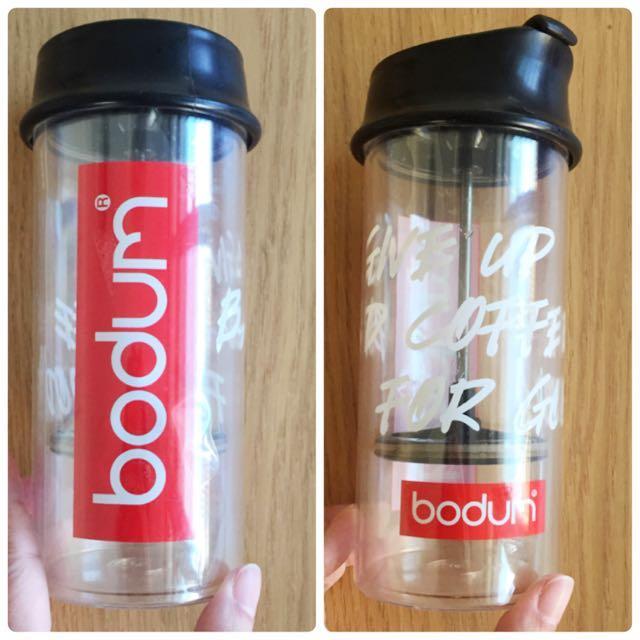 丹麥品牌 bodum 壓克力材質濾壓壺隨手杯