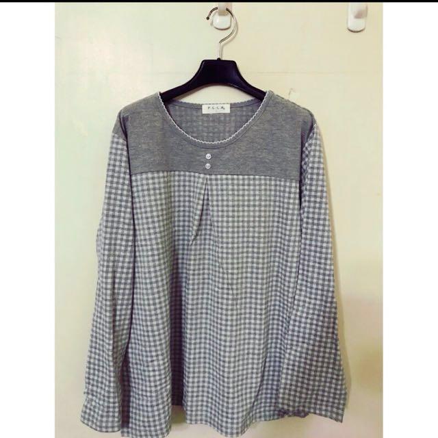 日本帶回格子上衣 L 原價2280 #我的女裝可超取