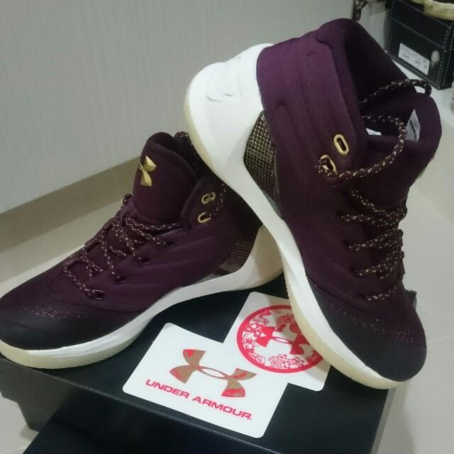 男子 UA curry3籃球鞋(US7/25cm)