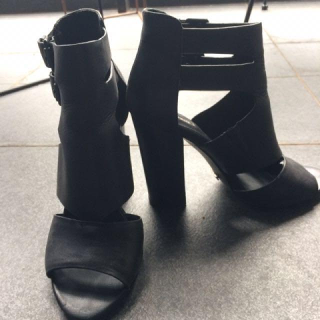 Alias Mae Leather Buckle Heel Size 38