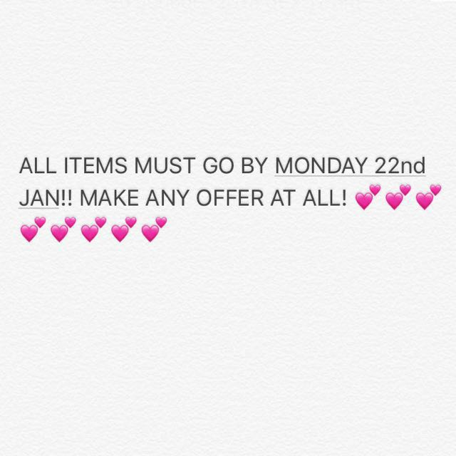 All items must go!!