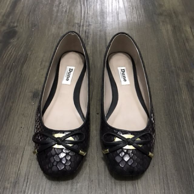 Animal print Flats with gold detail