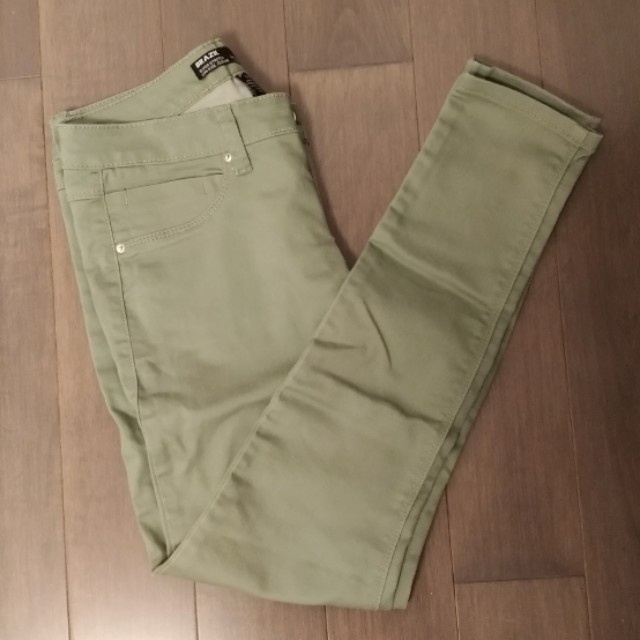 Army Green Jeggings Pants