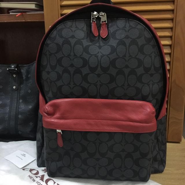 Authentic Coach leather backpack