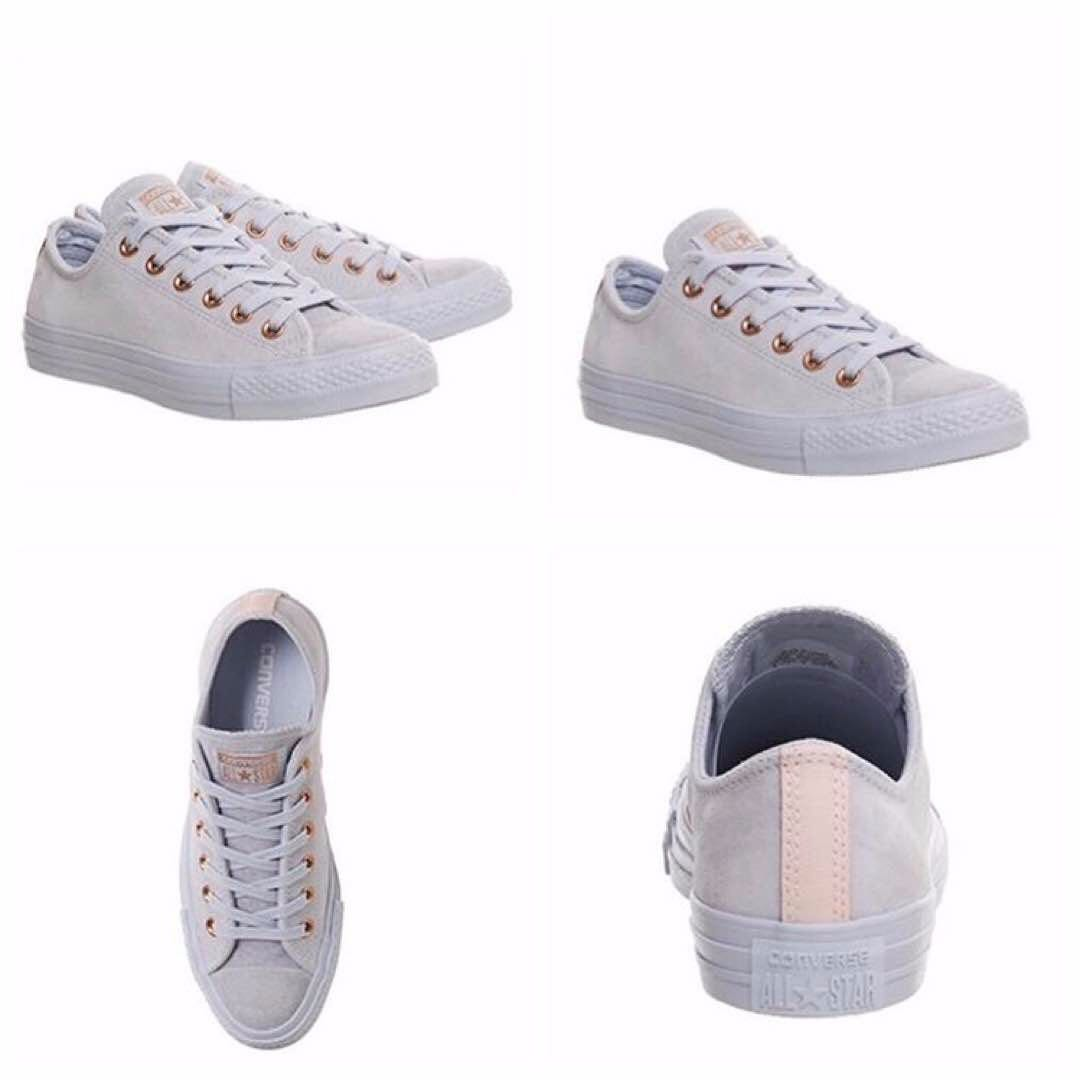 880c9f0c5c8f71 Authentic Converse All Star Low Leather Trainers Porpoise Vapour ...