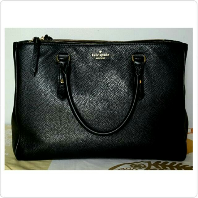 785078edd70 EUD KATE SPADE Leighann Satchel (Cow Leather), Luxury, Bags   Wallets on  Carousell