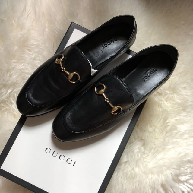 Authentic Gucci Brixton Collapsible Heel Loafers