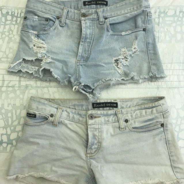 Bardot denim shorts x 2 size 9