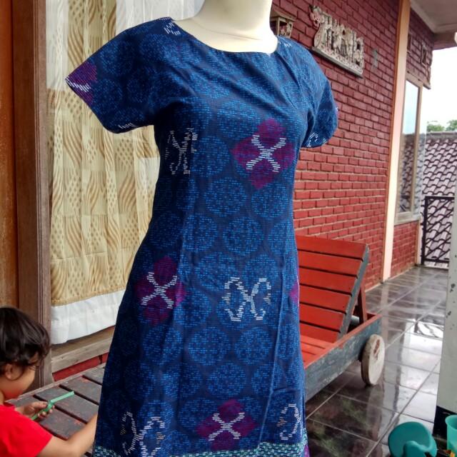 Batik dress saku samping