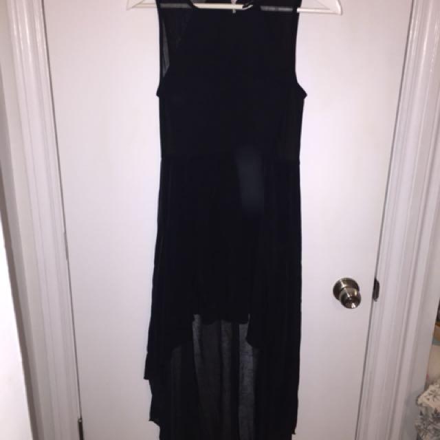 Black H&M High Low Dress