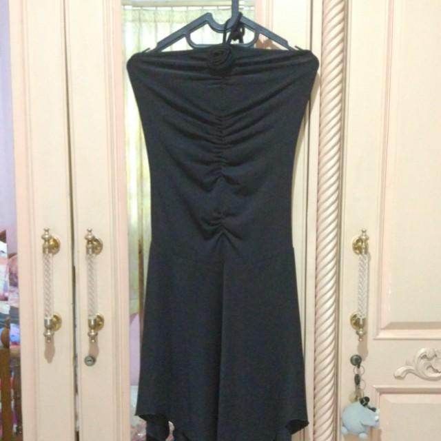 Black Mini Dress (Body Fit)