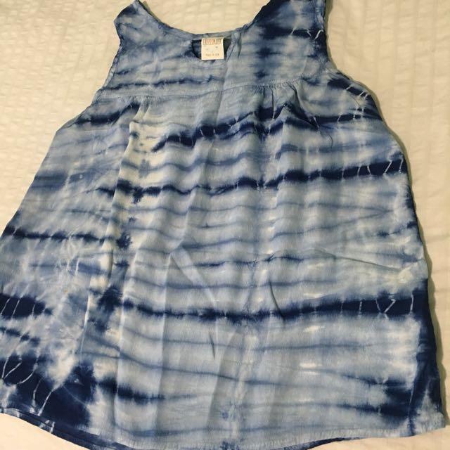 Blue Tie Dye Summer Top