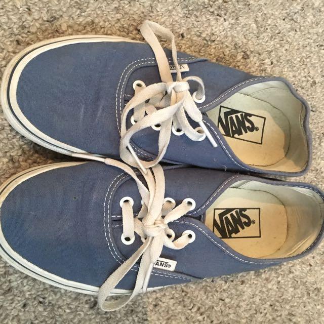 Blue vans shoes size 8
