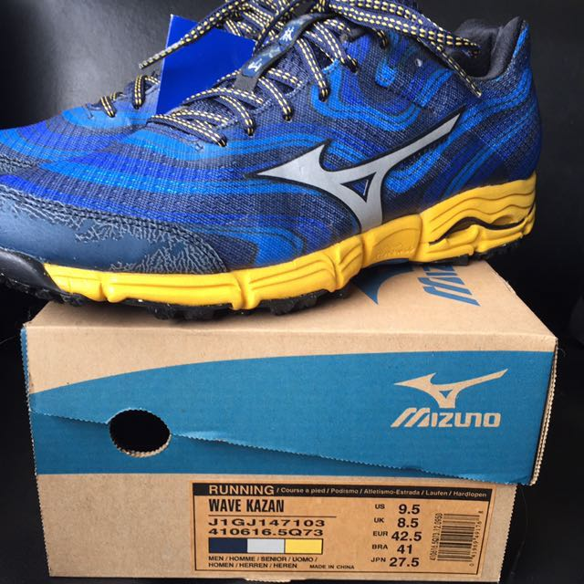 finest selection c4c49 04712 BNIB MIZUNO WAVE KAZAN TRAIL RUNNING SHOES IN SZ US 9.5, Sports, Sports  Apparel on Carousell