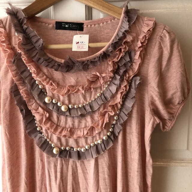 BNWT Ruffles and pearls blouse