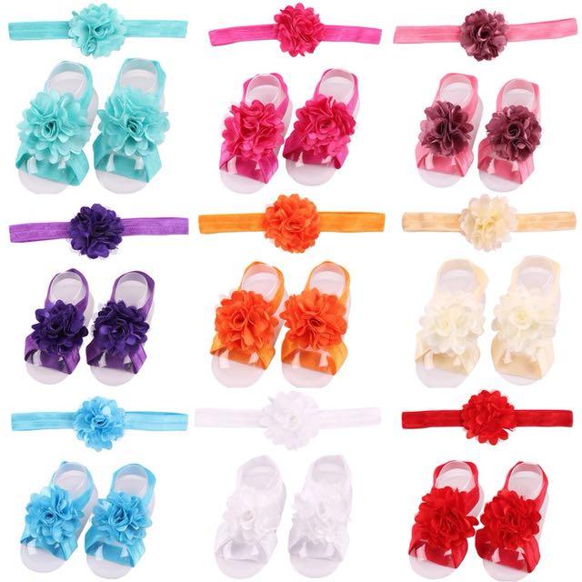Brand new baby barefoot set