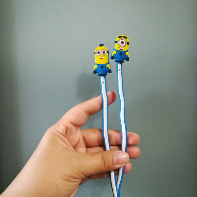 Cable Twist Lock Ties (Minion Design)