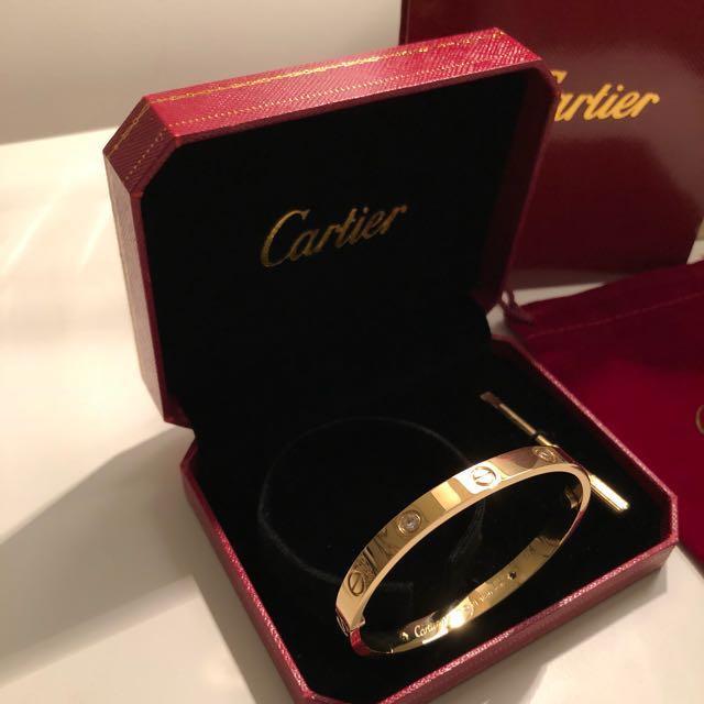 Cartier - Love Bracelet 4 Diamonds