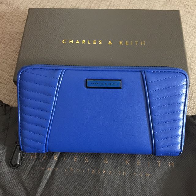 Charles & Keith wallet blue