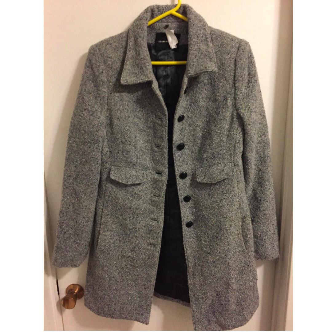 Club Monaco tweed coat