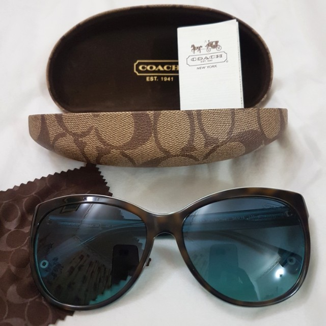 ab219f1821a6 Coach Sunglasses in Tortoise/Teal, Women's Fashion, Accessories on Carousell