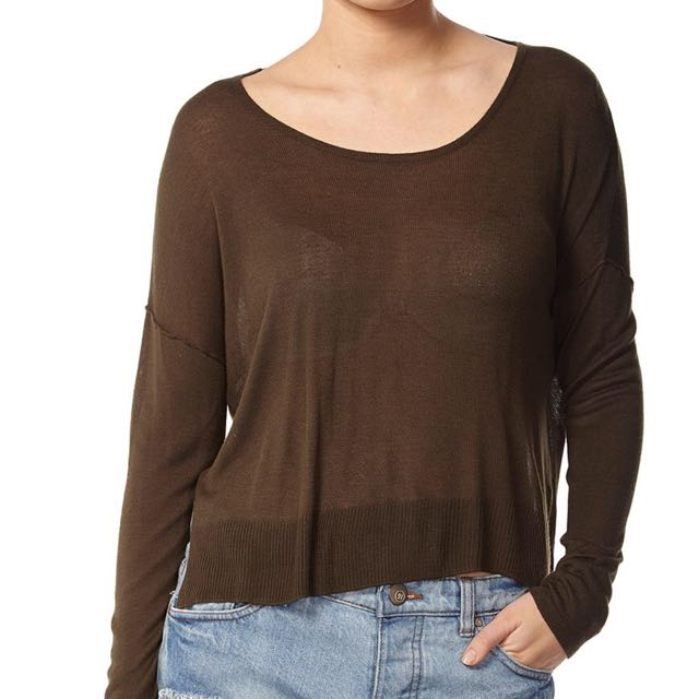 Cotton on knitted long sleeve top