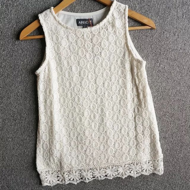 Crochet lace sleeveless top