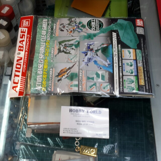 Action Base 2 Sparkle Clear Green From Bandai For 1/144 Scale Model Kit sjsns