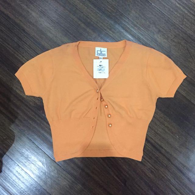 DC Classics Orange Sweater Crop Top