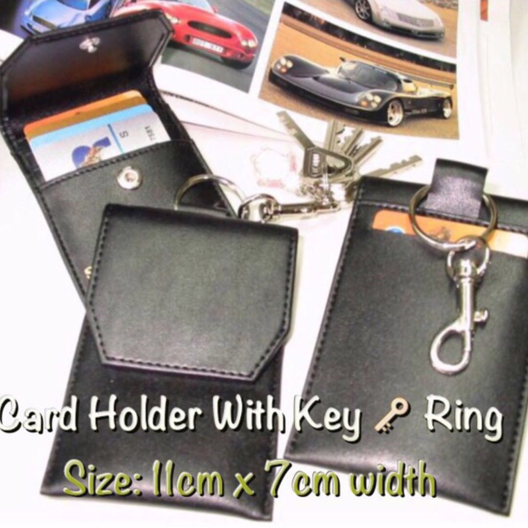 Durable Card Holders with Key Ring (Durable Artificial Leather)💌 Free local mail