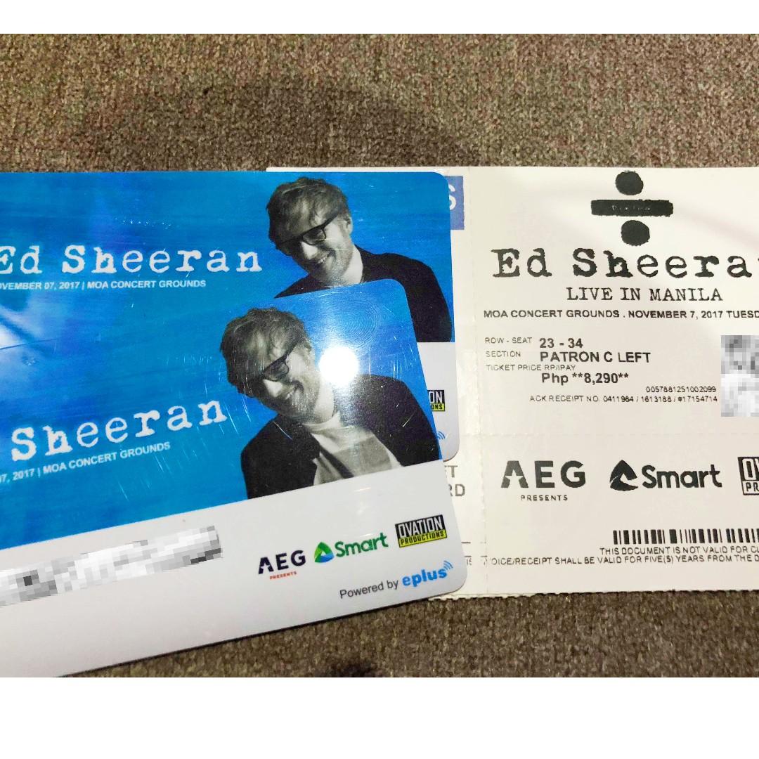 ED SHEERAN IN MANILA - 2 tickets Patron C