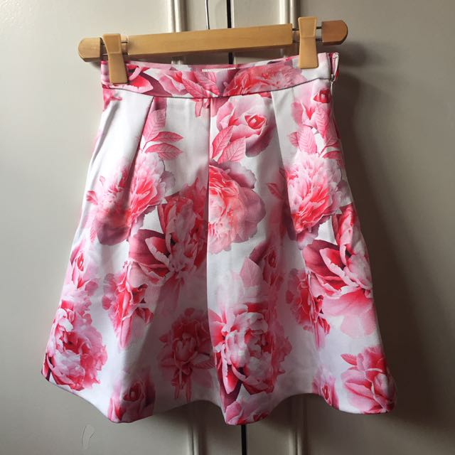EVER NEW Floral Skirt