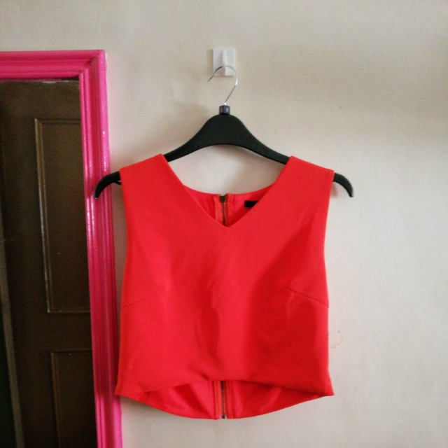 FOREVER 21 - Tangerine Cropped Top
