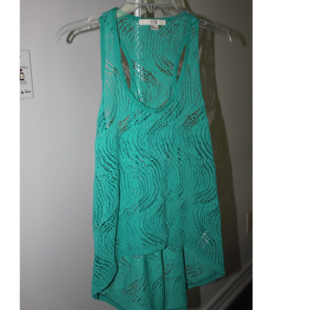 Forever 21 Teal Green Tank