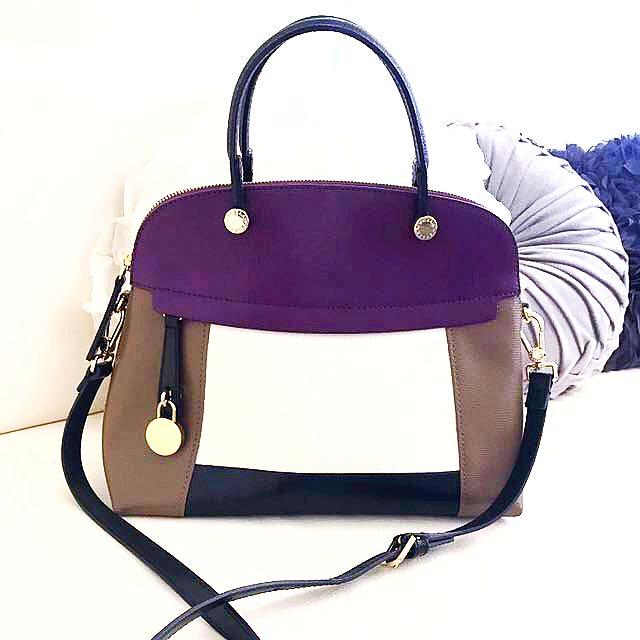 🎀Furla Multicolour Bag w/attachable Strap