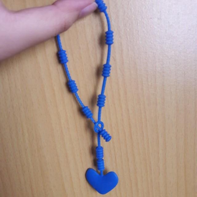 Gelang Biru Bahan Karet (adjustable strap)