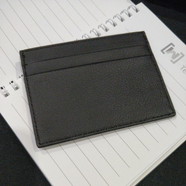 Genuine Leather Black Card Holder