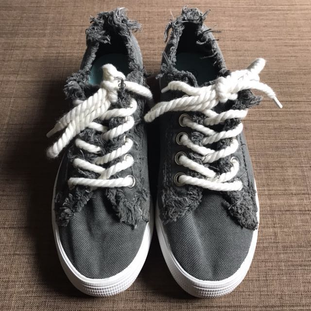 Gray Distressed Sneakers