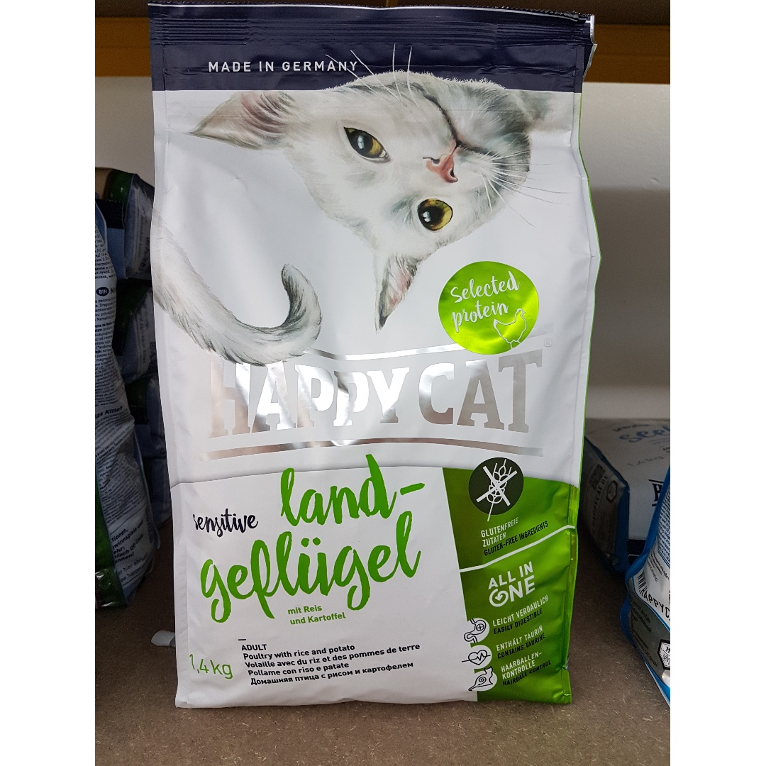 happy cat grainfree poultry 1 4kg pet supplies pet food on carousell