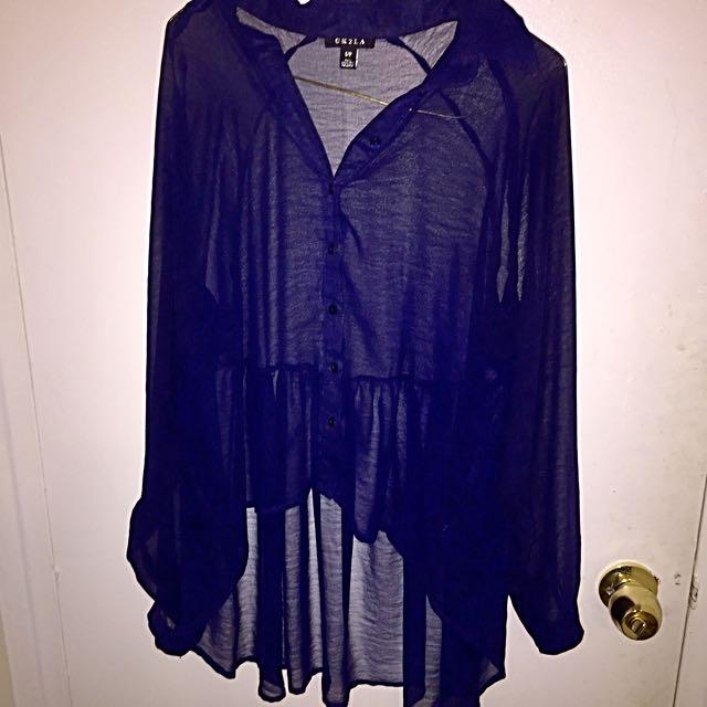 High low dress shirt