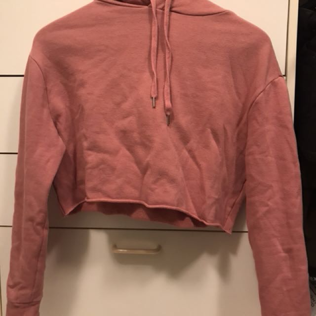 H&M pink cropped sweat shirt