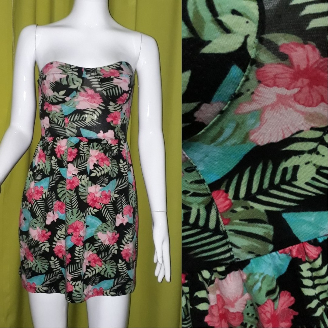H&M Tropical Tube Dress