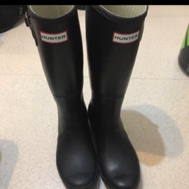 Hunter UK7 高筒黑色雨靴