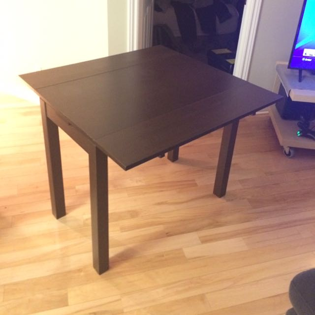 IKEA BJURSTA table - dark chestnut/wood
