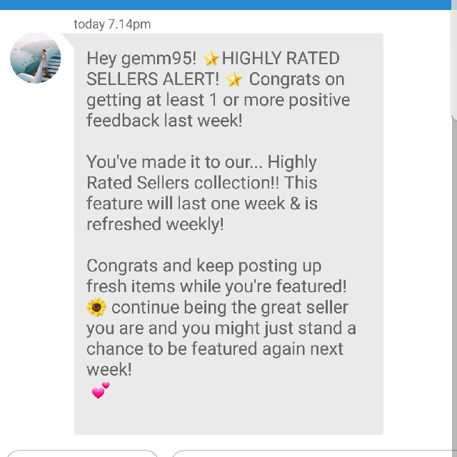 I'm a highly rated seller!😊❤