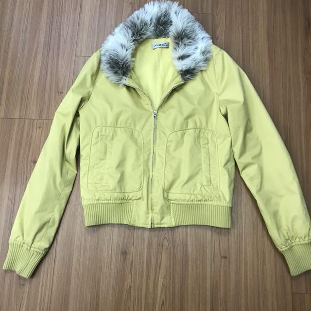 假期特價:iN毛領夾克型外套合身版