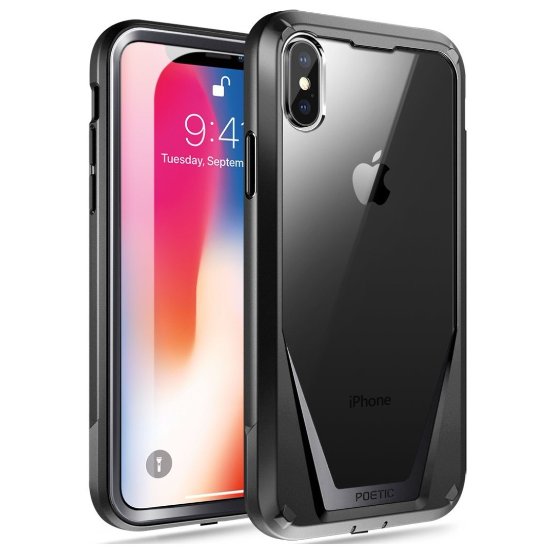 detailed look 0c16b 105cb [IN-STOCK] iPhone X Case, Poetic Guardian [Scratch Resistant Back] [360  Degree Protection]Full-Body Rugged Clear Hybrid Bumper Case with ...